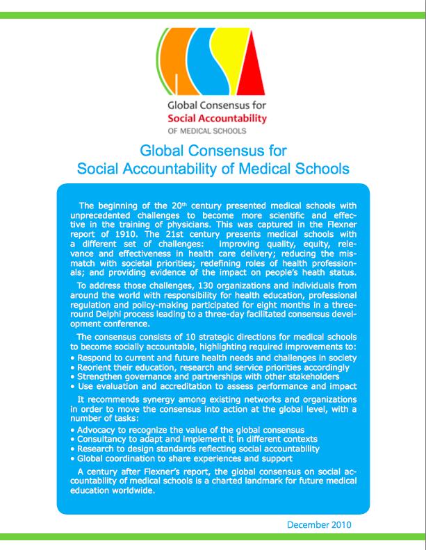 social accountability the world federation for medical education